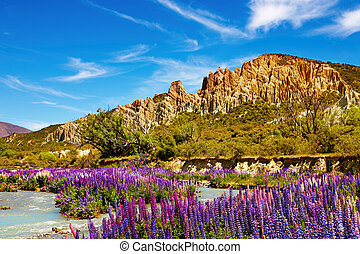 Clay Cliffs, New Zealand - Clay Cliffs Scenic Reserve, New...