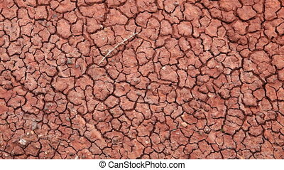 Clay - Close up of clay, Painted Hills, Oregon, dolly shot