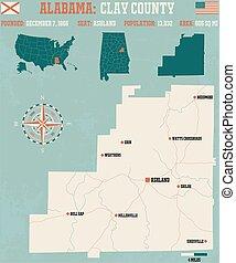 Clay County in Alabama USA