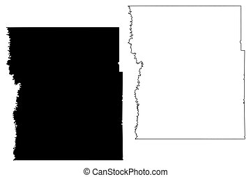 Clay County,  Minnesota (U.S. county, United States of America, USA, U.S., US) map vector illustration, scribble sketch Clay map