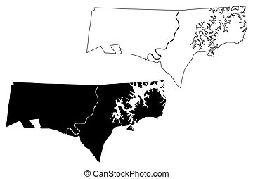 Clay County, State of Tennessee (U.S. county, United States of America, USA, U.S., US) map vector illustration, scribble sketch Clay map
