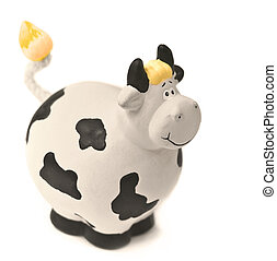 clay cow - Souvenir cow, isolated