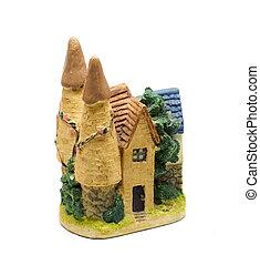 Clay figurine of castle