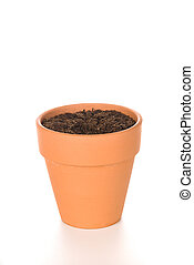 Clay Flower Pot with Soil - A terracotta clay flower pot...