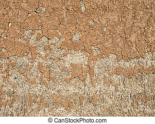 Clay Home Wall Texture ,Close up of Natural building materials made of clay are energy-saving