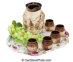 clay jug handmade isolated