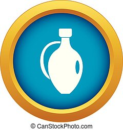 Clay jug icon blue vector isolated