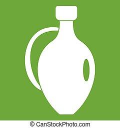 Clay jug icon green