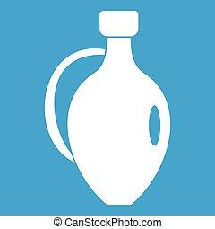 Clay jug icon white