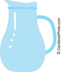 clay jug isolated on white - Vector jug blue isolated on...