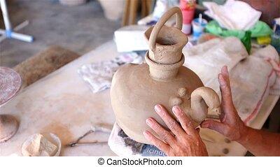 Clay making in studio