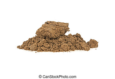 clay on white background