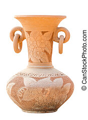 Clay pot of manual work isolate on white background
