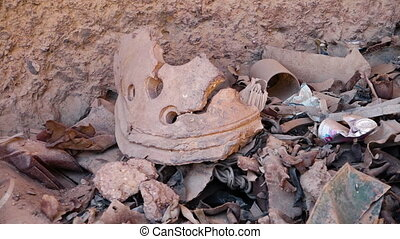 Clay pot rubble at the Buddhas of Bamyan. - This world ...