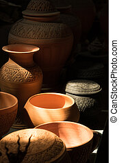 Clay pottery art