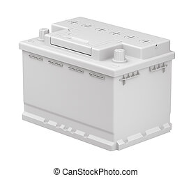 Clay render of car battery