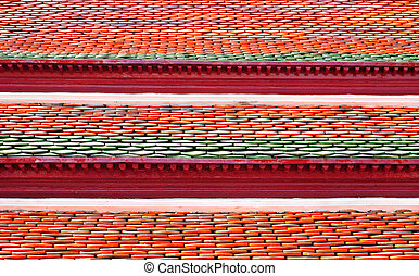 clay roof tile background