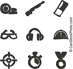 Clay Shooting Icons Freehand Fill