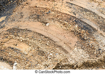 Clay texture background with Curved lines in construction site