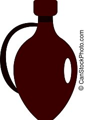 Clay wine jug icon isolated
