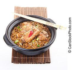 Claypot pork rice. asia food - Claypot pork rice. asia...