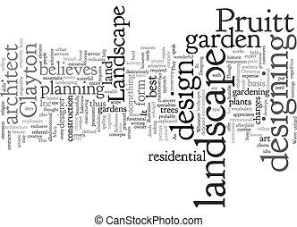 clayton pruitt landscape architect text background wordcloud concept