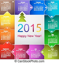 Clean 2015 wall calendar