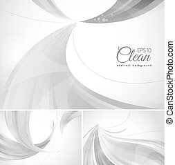 Clean abstract background. A set of clean vector abstract...