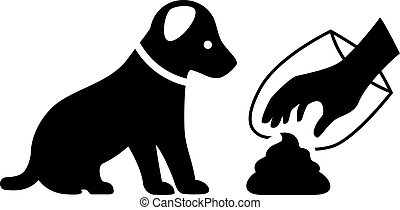 Clean after your dog vector icon