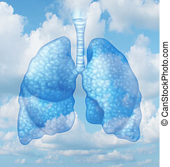 Clean Air - Clean air quality concept and healthy breathing...