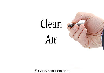 Clean air text concept isolated over white background