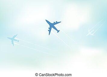 clean air travel background design