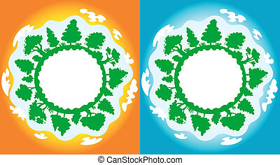 Clean and pollution on earth - ecology concept