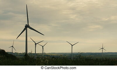 Clean and Renewable Energy, Wind Power, Turbine, Windmill, Energy Production.