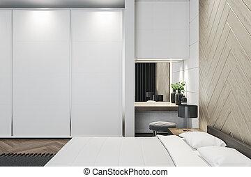 Clean bedroom interior