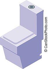 Clean bidet icon, isometric style - Clean bidet icon. ...