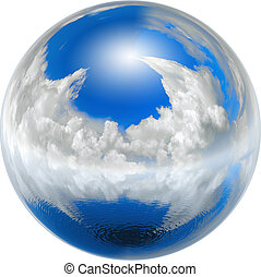 clean blue earth