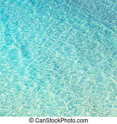 Clean transparent blue water, natural pattern