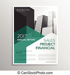 Clean Business Brochure Annual Report Template  Annual Report Template Design