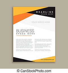 clean business leaflet brochure template