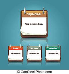 Clean calendar template