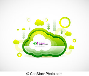 Clean cloud green space concept - Green ecology cloud....