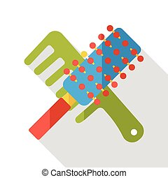 clean comb flat icon