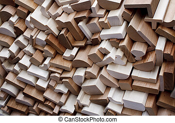 Clean cut skirting boards - Clean freshly cut wooden...