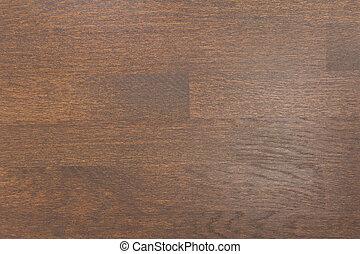 Clean dark brown wooden surface, backdrop / texture / background.