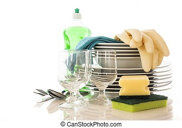 Clean dishes