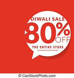 clean diwali sale offer template with chat bubble