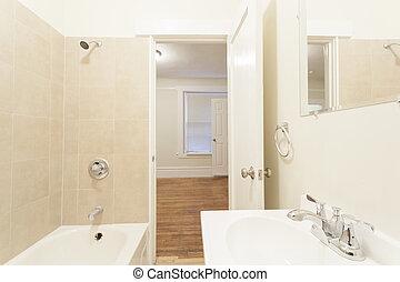 Clean empty bathroom toilet