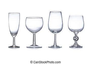 Clean empty glassware