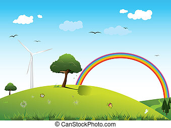 Clean energy concept  - paint of clean energy concept